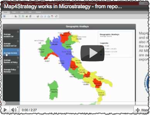 Screencast - Map4Strategy works with Microstrategy