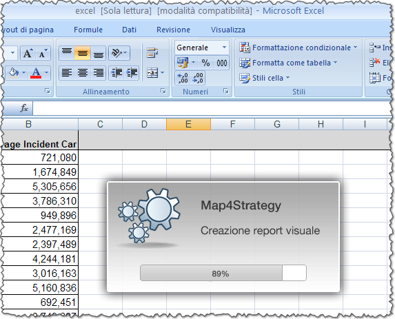 Map4Strategy + Microsoft Excel = Visual Report